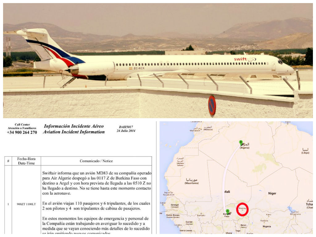 Avión con 110 personas de Air Algerie desaparece sobre África