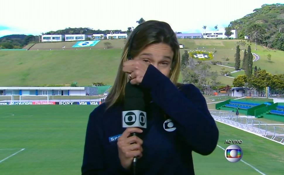 [VIDEO] Periodista brasileña llora en vivo tras derrota de 7-1 ante Alemania