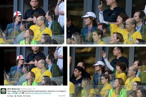 Mick Jagger saló al Brasil por ir a estadio aseguran en Twitter