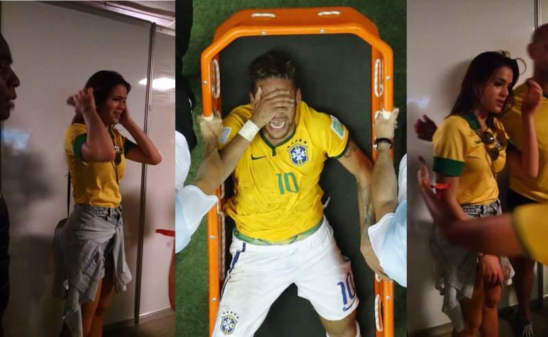 Foto O'Globo / [FOTOS] Llora Bruna Marquezine, la novia de Neymar tras enterarse de lesión