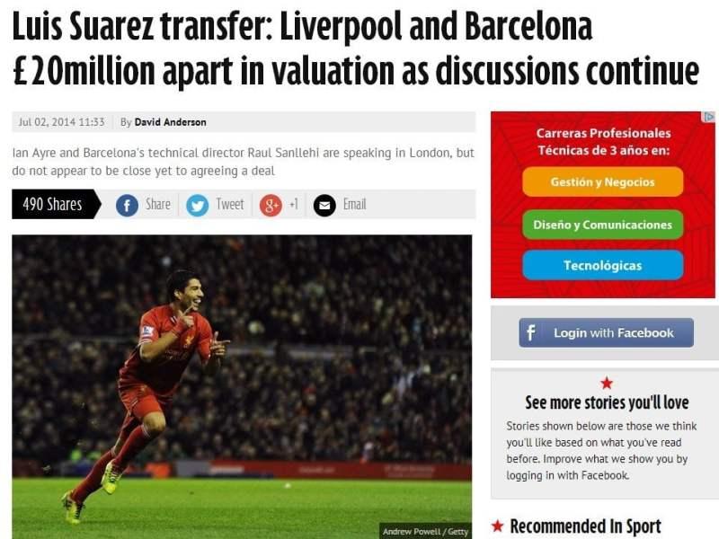 ¿Luis Suárez al FC Barcelona? Se inicia conversación con Liverpool
