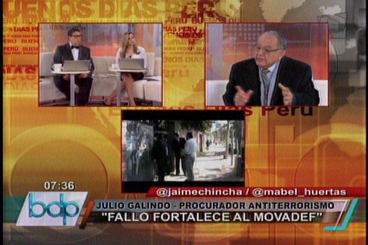 """Procurador Galindo: """"Recusaremos a jueces que liberaron a cúpula del Movadef"""""""
