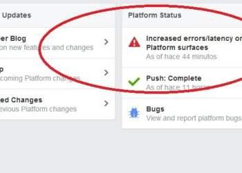 Así reporta Facebook los errores y caídas en su plataforma
