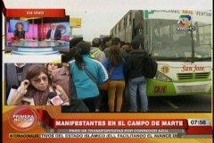 Paro de transportistas del Callao afecta a pasajeros y provoca caos
