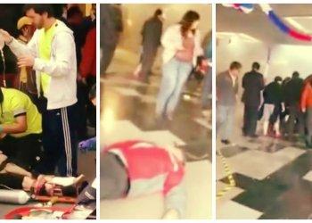 [VIDEO] Impactante: Segundos después de bomba en metro de Santiago