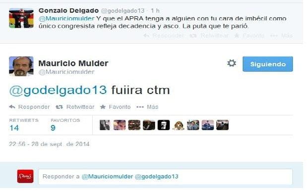 Congresista Mulder mentó la madre a tuitero que lo insultó ¿tu que harías?