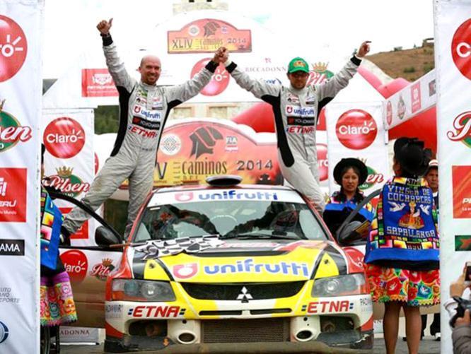 A bordo del auto 597,  José Luis Tommasini (al volante) y Juan Pedro Cilloniz (copiloto) fueron los mejores de Los Caminos del Inca 2014.