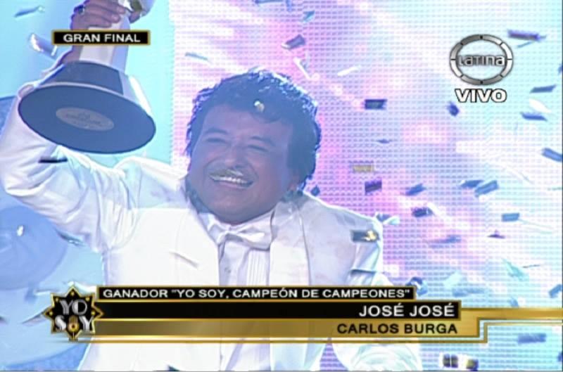 [VIDEO] Yo Soy: José José se corona como 'Campeón de Campeones'