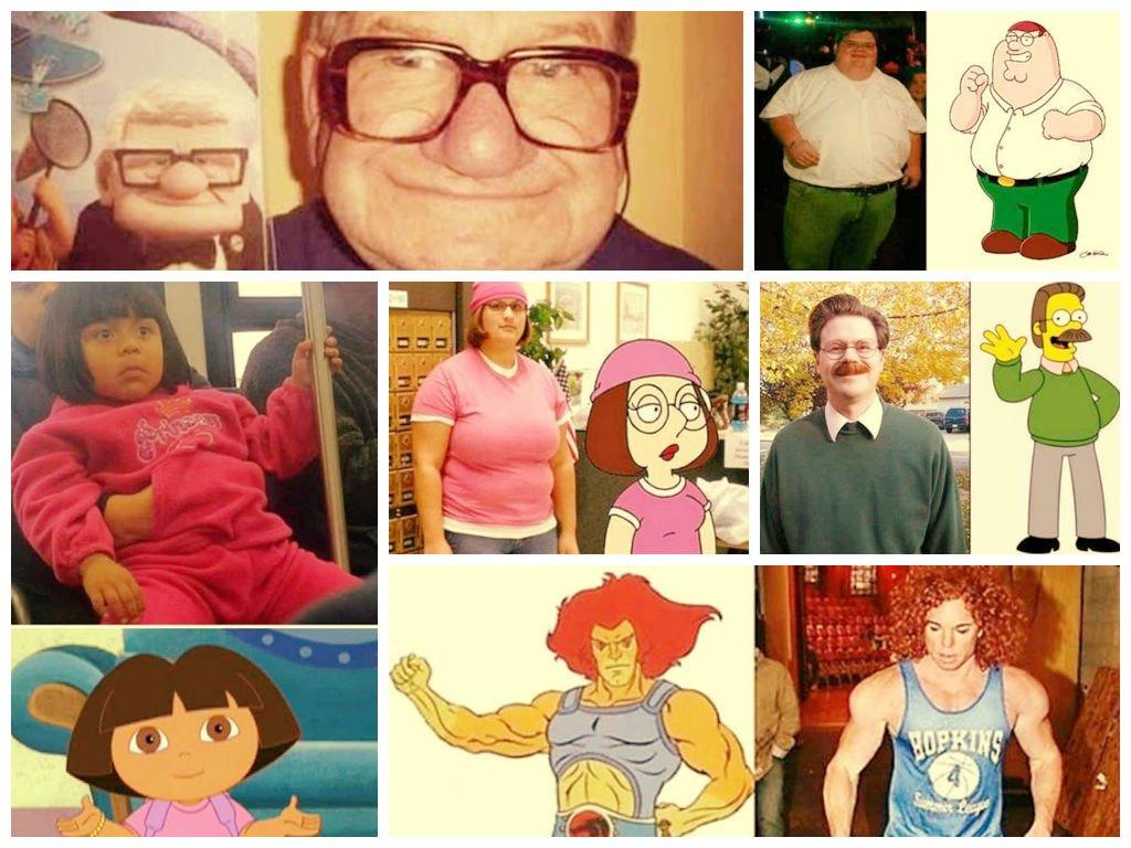 [FOTOS] Increíble: 19 personas 'igualitas' a los dibujos animados