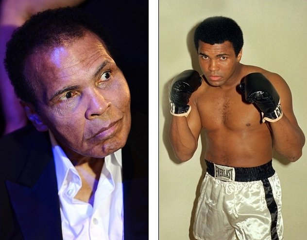 Foto Daily Mail / Muhammad Ali apenas puede hablar por mal de Parkinson
