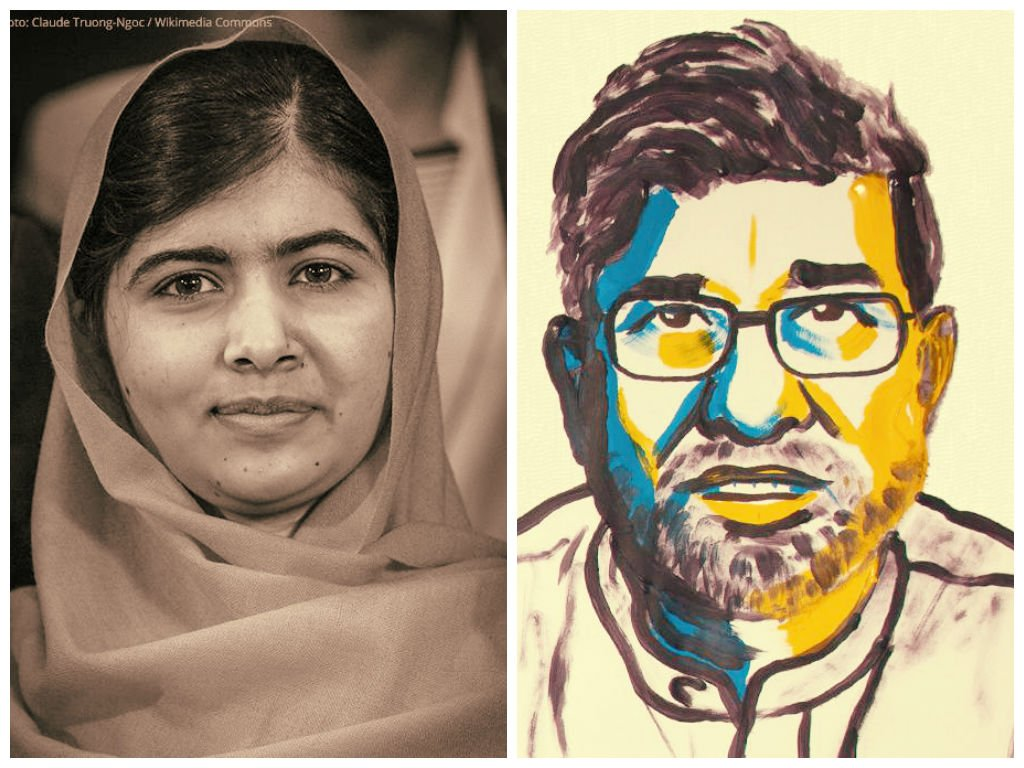 Ganan el Premio Nobel de la Paz paquistaní Malala e indio Kailash Satyarthi