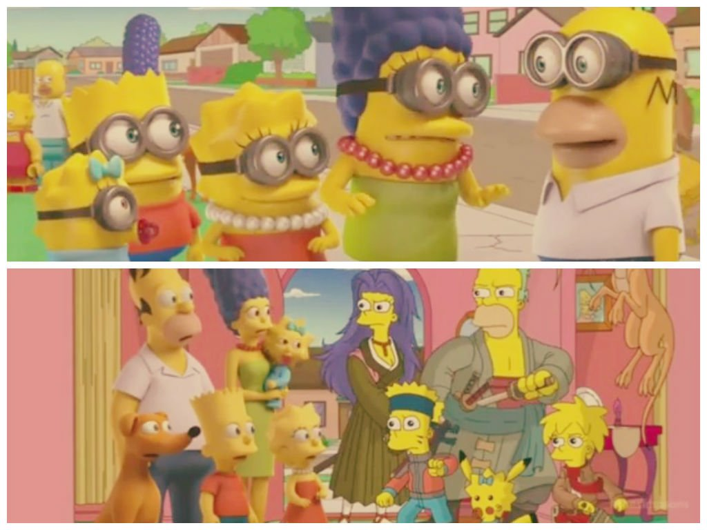 [VIDEO] Los Simpsons recrean Pokemon, South Park, Adventure Time y más