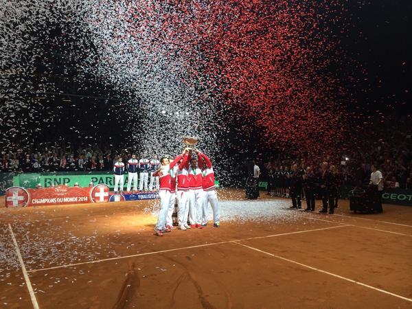 Suiza se adjudicó a la primera Copa Davis de su historia.
