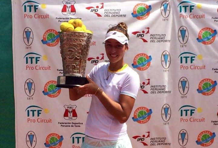 Bianca Botto cerró la su temporada tenística con un título más.