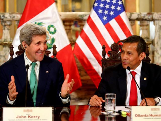 Ollanta Humala a John Kerry: Perú quiere ser socio estratégico de EE.UU.