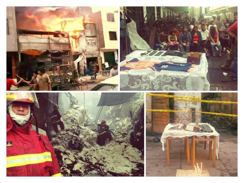 Velan prendas de dos niños fallecidos por voraz incendio en La Victoria