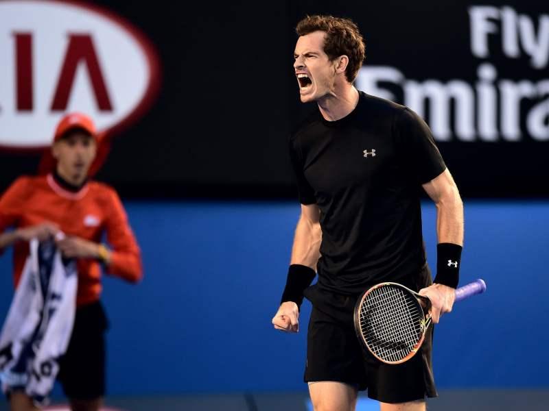 Murray celebró de manera eufórica su pase a la final de Melbourne.