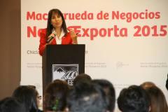 La ministra Silva confirmó la presencia de 54 empresas importadoras en el Norte Exporta 2015.
