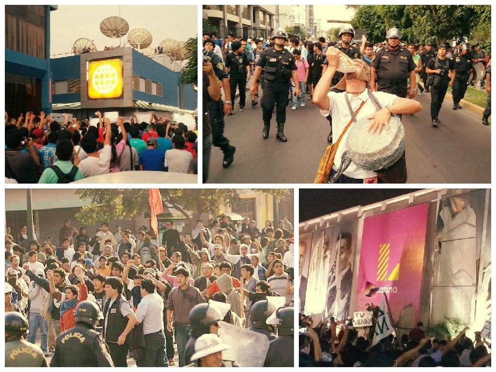 Así fue la marcha contra la TV basura en Lima [VIDEOS Y FOTOS]