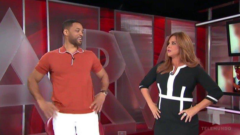 [VIDEO] De impacto: Will Smith habla en español con Telemundo