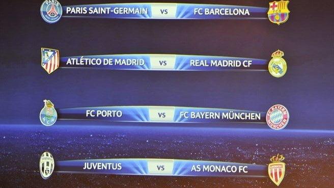 Quedaron listos los cruces de los cuartos de final de la Champions League.