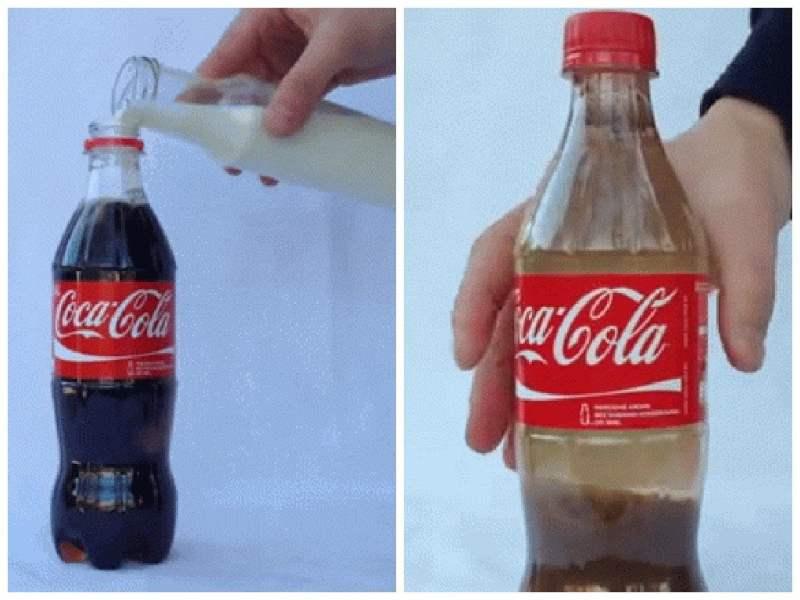 YouTube : Esto pasa si mezclas Coca-Cola y leche