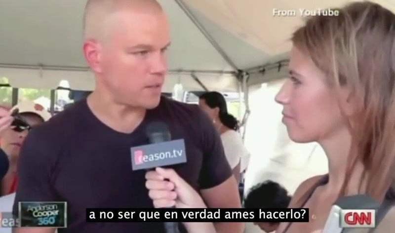 Matt Damon ridiculizó a una periodista poco inteligente [VIDEO]