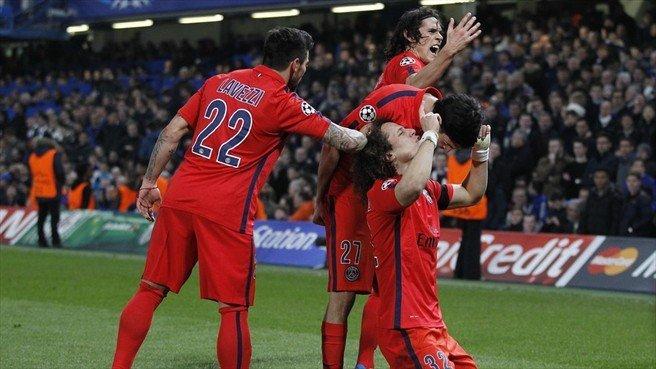 Paris Saint Germain celebró en Londres una clasificación merecida.