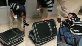 Increíble: Mujer se esconde en maleta para cruzar hacia Turquía