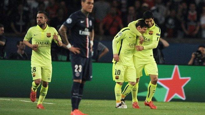 Barcelona ganó en Francia con goles sudamericanos.