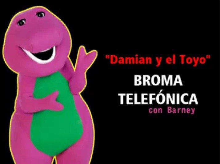 Barney llamó por teléfono a una niña peruana y la pasó mal