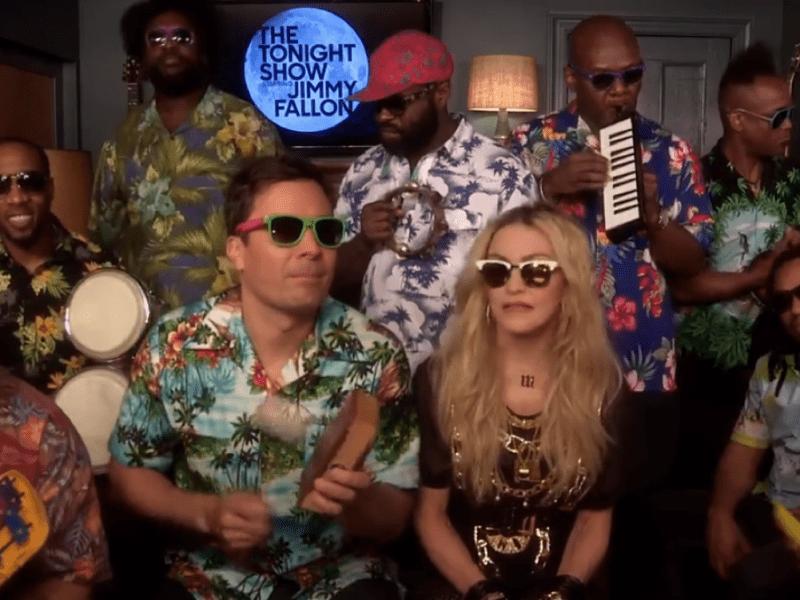 Madonna hace su mejor desenchufado con Jimmy Fallon