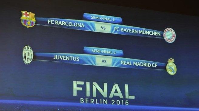 Quedaron listos los cruces por semifinales de la Champions League.