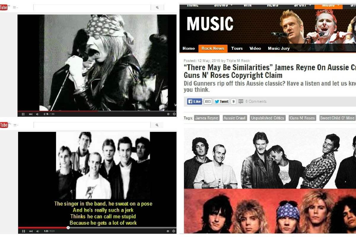 "Guns N' Roses: Revelan que ""Sweet Child O' Mine"" sería una copia"