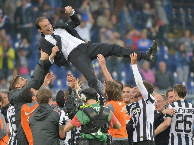 Juventus celebró su 31° campeonato del fútbol italiano en Génova.
