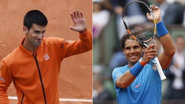 Djokovic y Nadal celebraron en sus debuts por el Roland Garros 2015.