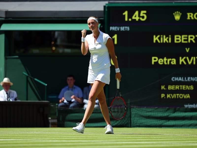 La checa Kvitova comenzó Wimbledon 2015 arrasando.