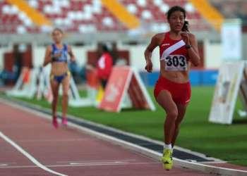 Inés Melchor subió a lo más alto del podio en el Sudamericano de Atletismo.