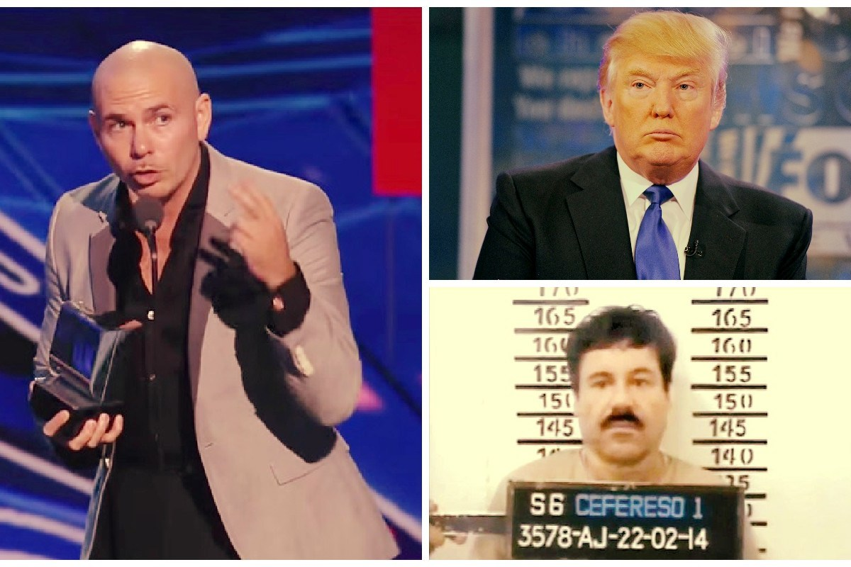 """Pitbull a Donald Trump: """"Ten cuidado con el Chapo Guzmán"""" / VIDEO"""