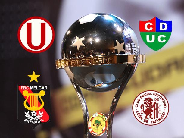 Dos equipos colombianos, uno ecuatoriano y otro venezolano serán rivales de los clubes peruanos.