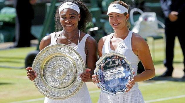 Serena Williams superó en la final a la talentosa Garbiñe Muguruza.