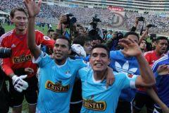 """Sporting Cristal celebró el Apertura en la cancha de la """"U""""."""