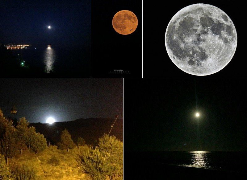 Así se ve la superluna en todo el mundo