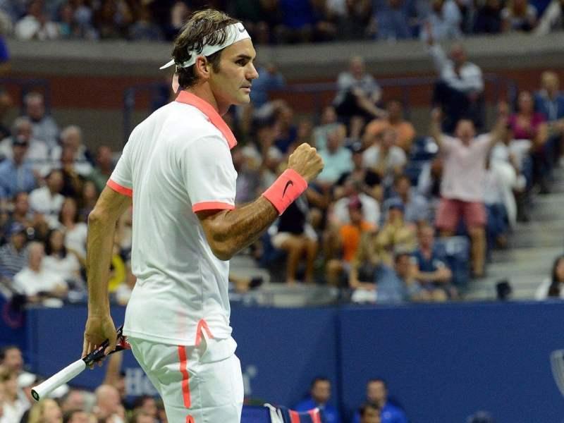 Federer eliminó al último jugador local en la versión 2015 del US Open.