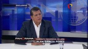 Alan García en Panorama TV