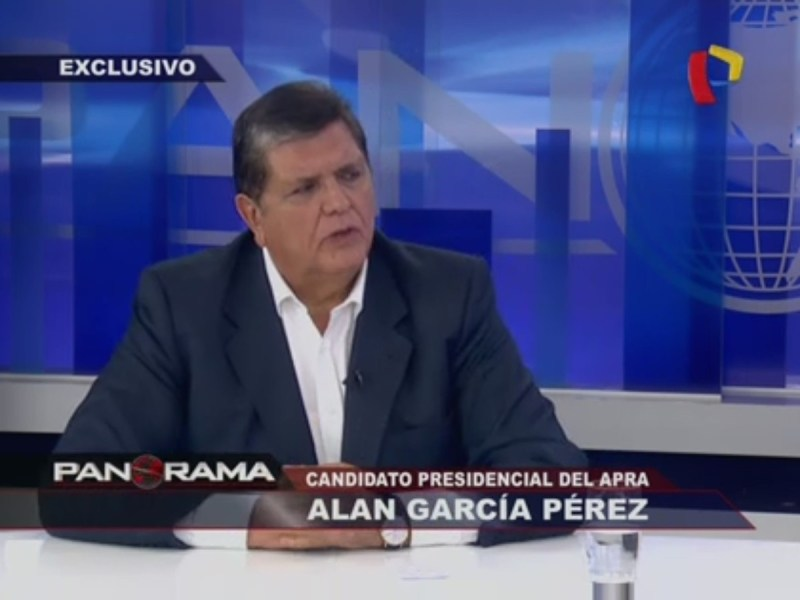 Alan García en Panorama TV