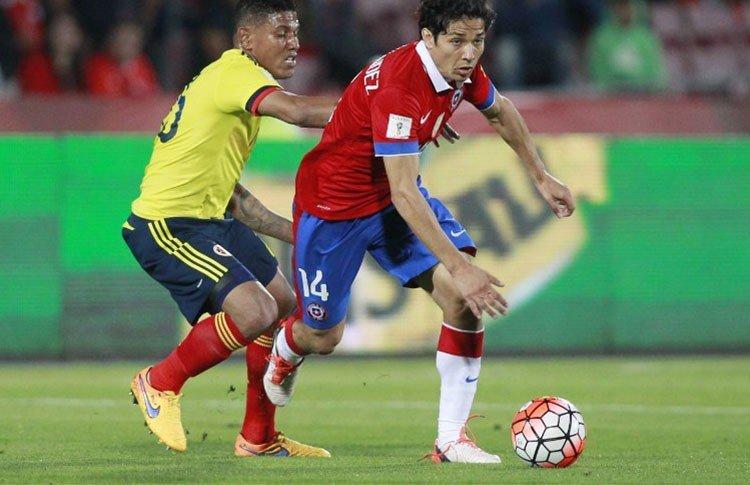Chilenos y colombiano se repartieron puntos en Santiago.