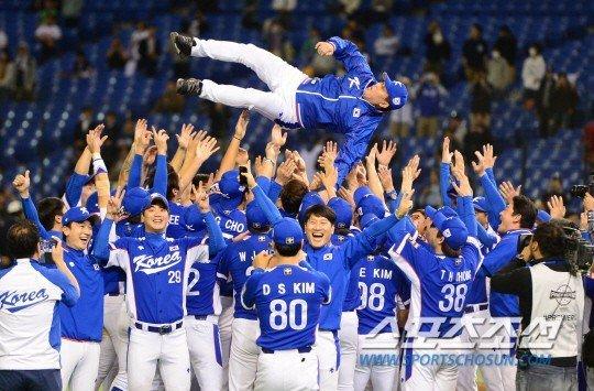 Corea del Sur sorpresivamente logró celebrar en el béisbol mundial.
