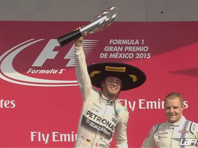 Rosberg celebró en México su cuarto triunfo de la temporada.