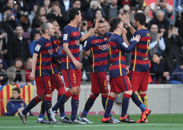 Barcelona busca revalidar el título de la Liga española.